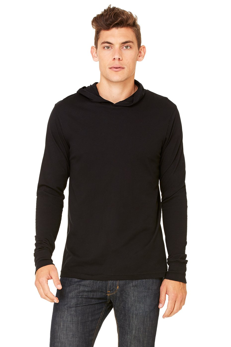 Bella + Canvas - 3551 - Men's Thermal Long-Sleeve Henley Hoodie