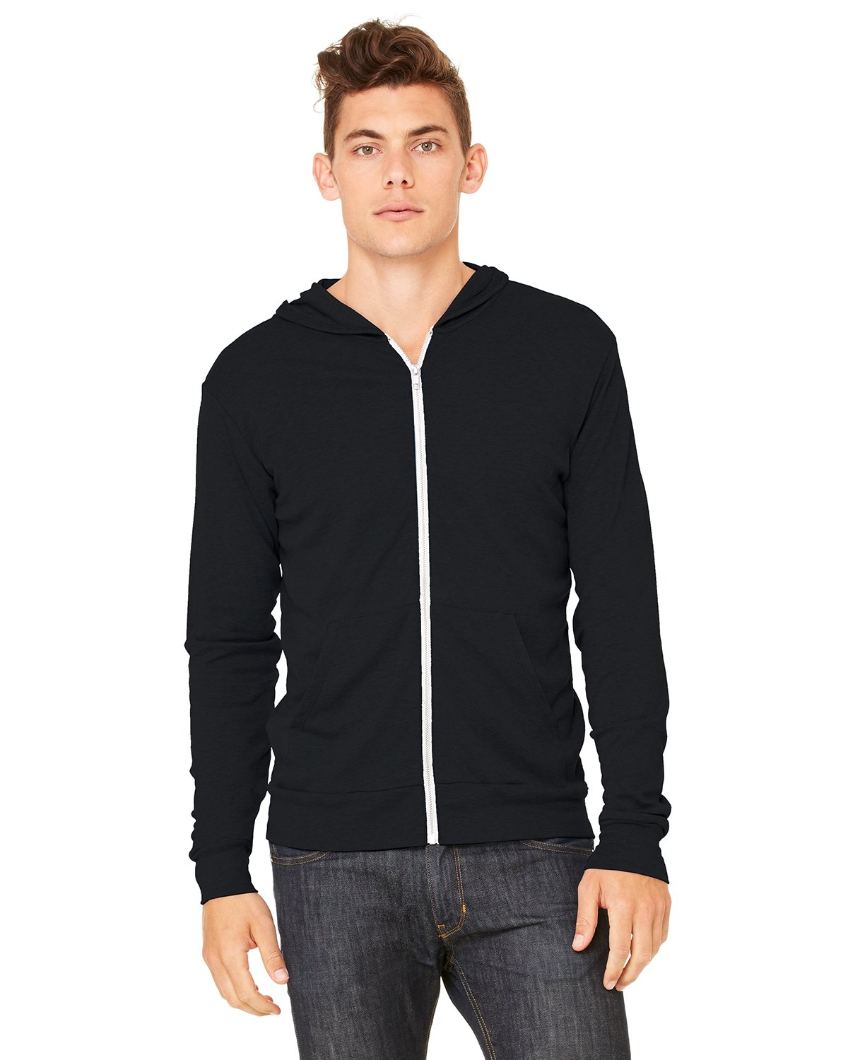 Bella + Canvas - 3939 - Unisex Triblend Full-Zip Lightweight Hoodie