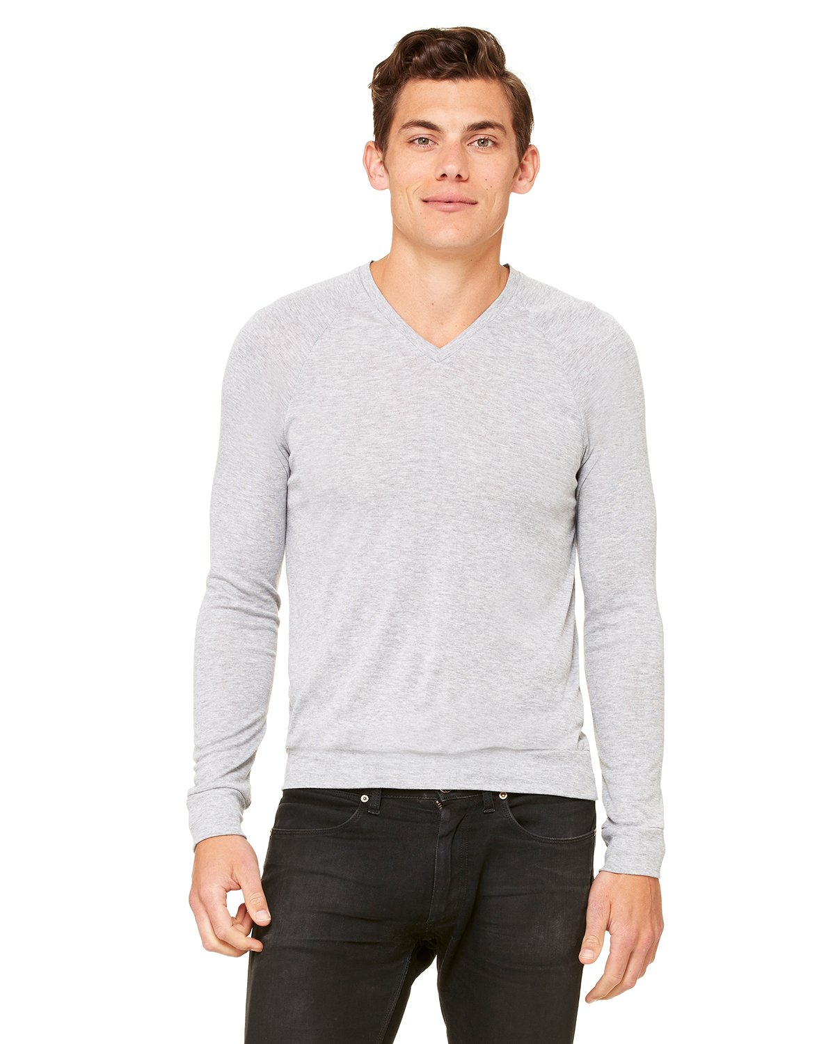 Bella + Canvas - 3985 - Unisex V-Neck Lightweight Sweater