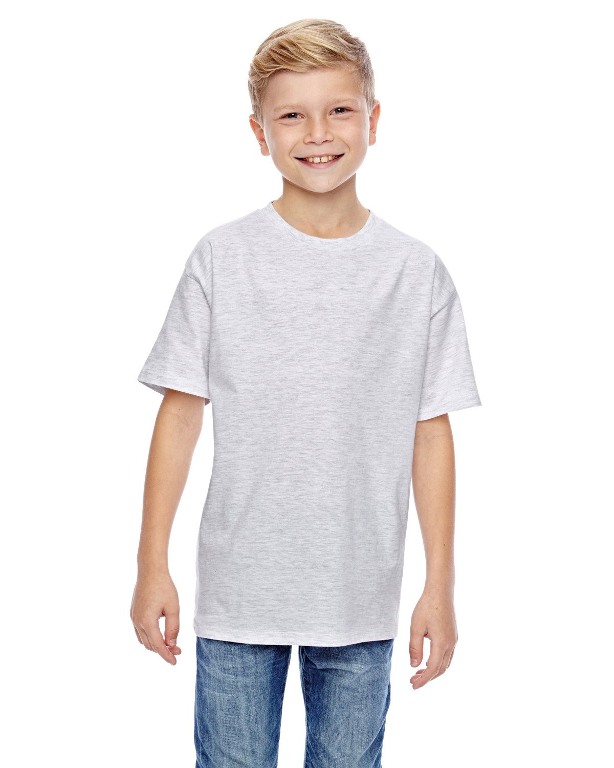 Hanes - 498Y - Youth 4.5 oz., 100% Ringspun Cotton nano-T® T-Shirt