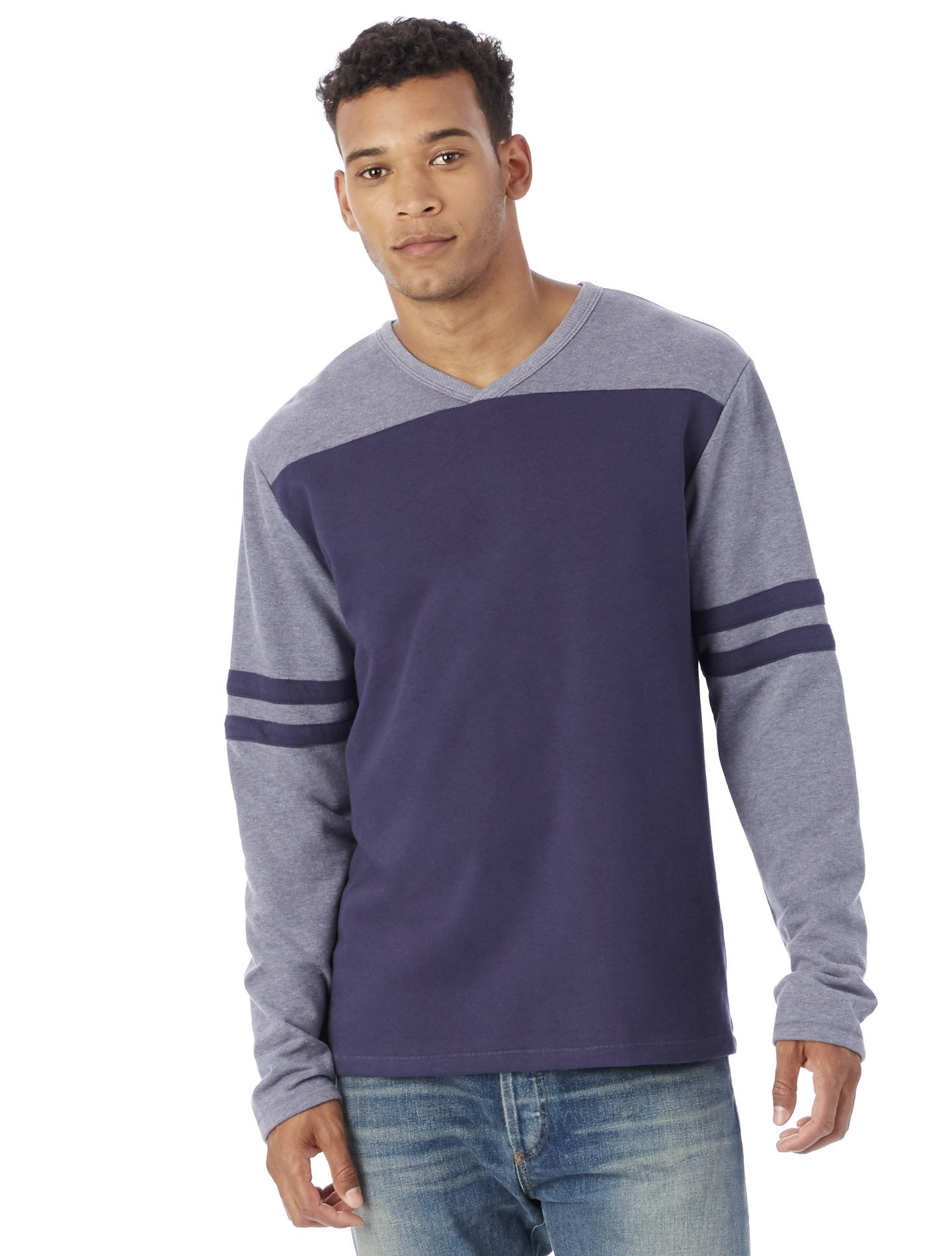 Alternative Apparel - 5077BT - Men's French Terry Trainer L/S Pullover