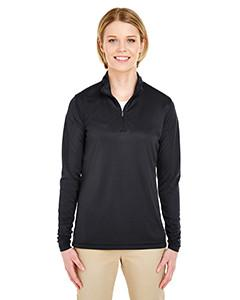 UltraClub - 8424L - Ladies' Cool & Dry Sport Performance Interlock Quarter-Zip Pullover