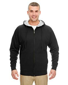 UltraClub - 8463 - Adult Rugged Wear Thermal-Lined Full-Zip Hooded Fleece