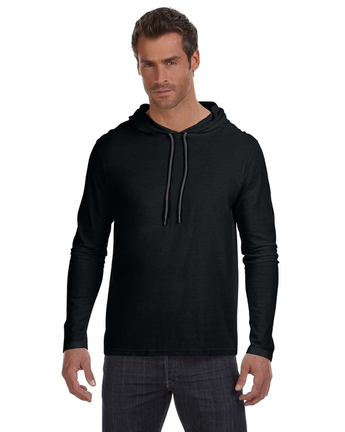 Anvil - 987AN - Lightweight Long-Sleeve Hooded T-Shirt