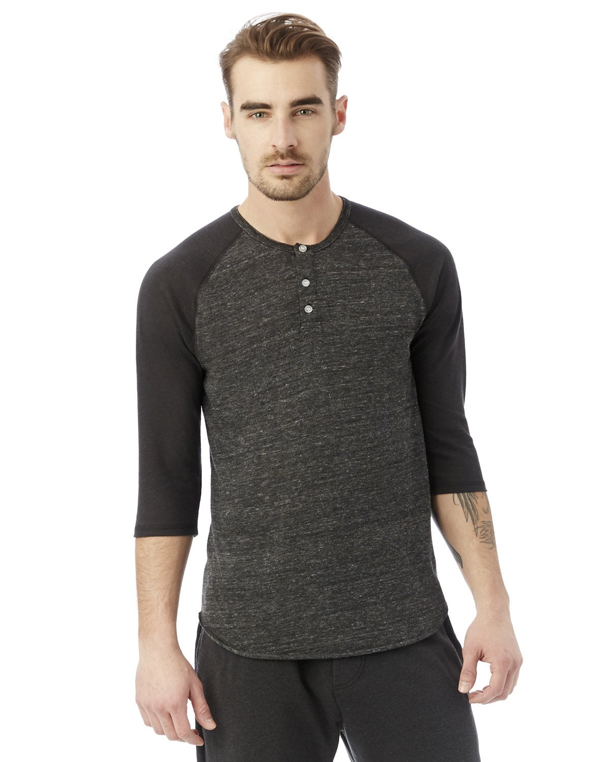 Alternative Apparel - AA1989 - Men's Eco-Jersey 3/4-Sleeve Raglan Henley