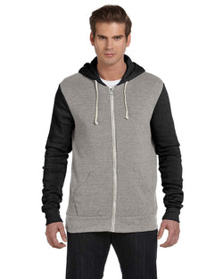 Alternative Apparel - AA3203 - Men's Rocky Eco-Fleece Colorblocked Hoodie