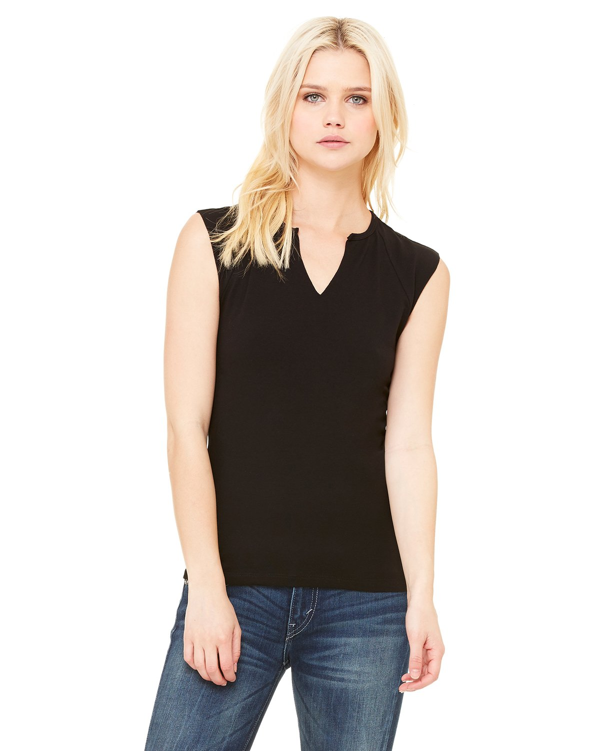 Bella + Canvas - B820 - Ladies' Cotton/Spandex Slit-V Raglan T-Shirt