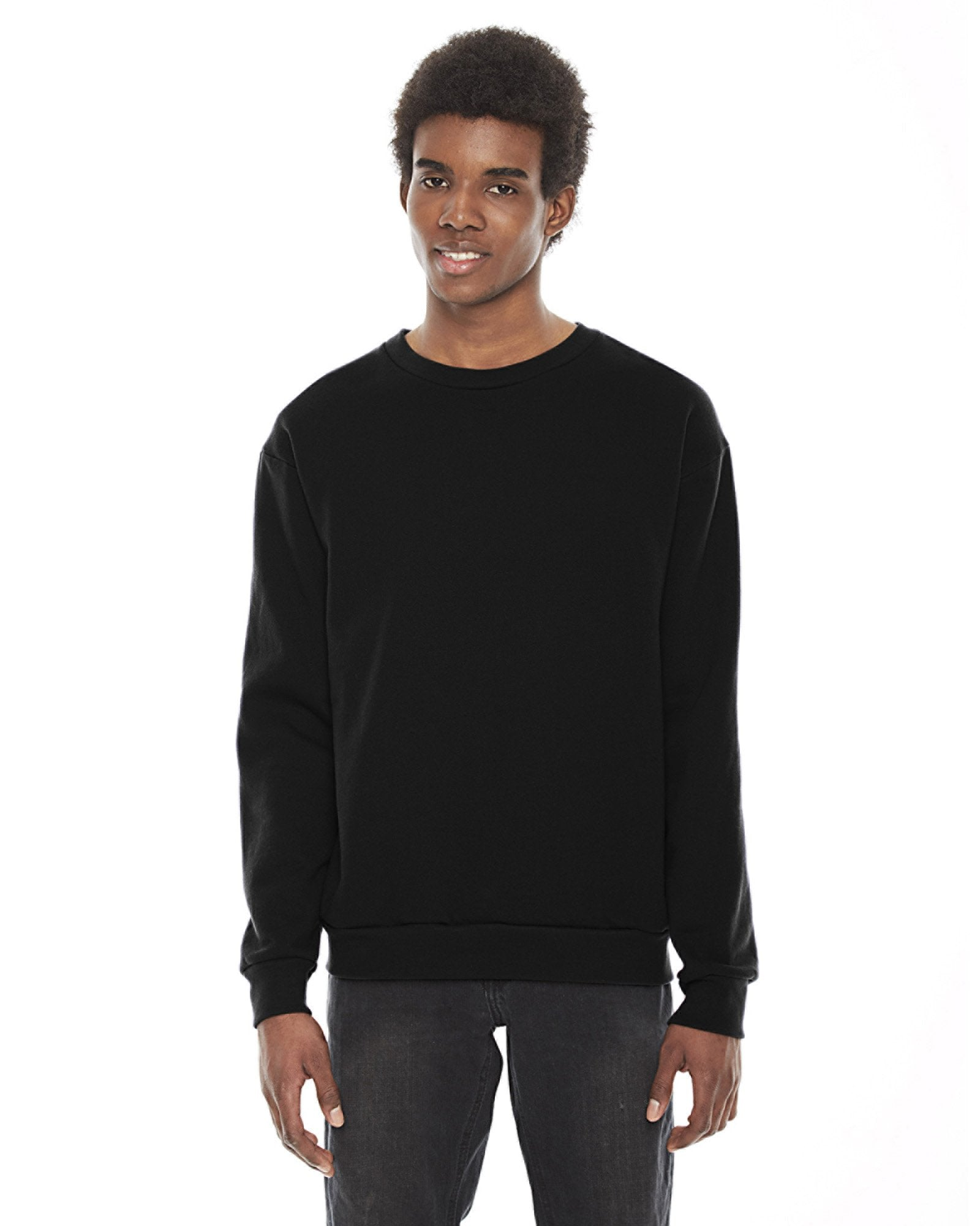 American Apparel - F496 - Unisex Flex Fleece Drop Shoulder Pullover Crewneck