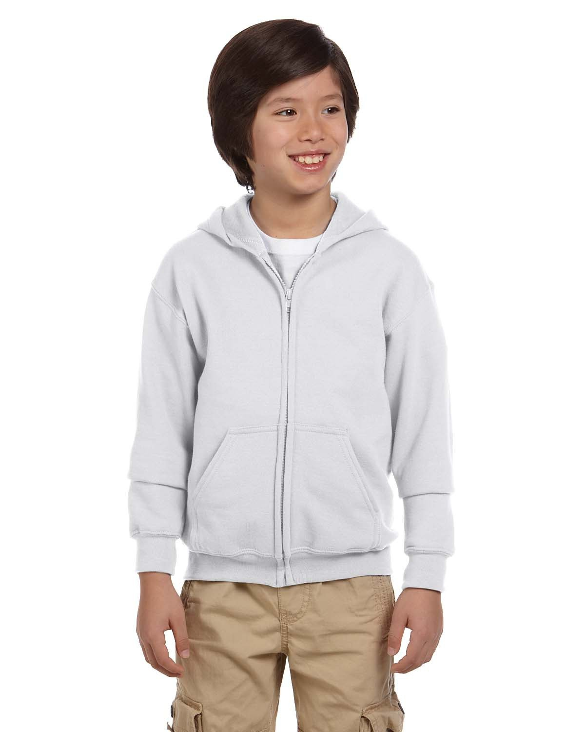 Gildan - G186B - Youth Heavy Blend™  8 oz., 50/50 Full-Zip Hood