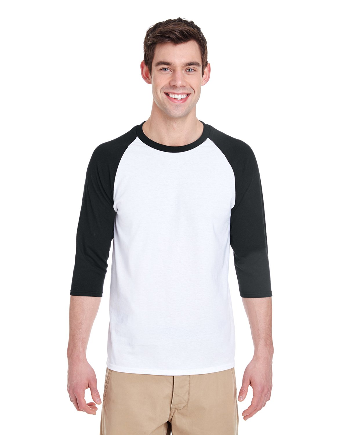 Gildan - G570 - Adult Heavy Cotton™ 5.3 oz., 3/4 Raglan Sleeve T-Shirt