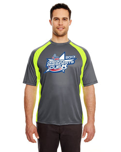 UltraClub Adult Cool & Dry Sport Two-Tone Performance Interlock T-Shirt