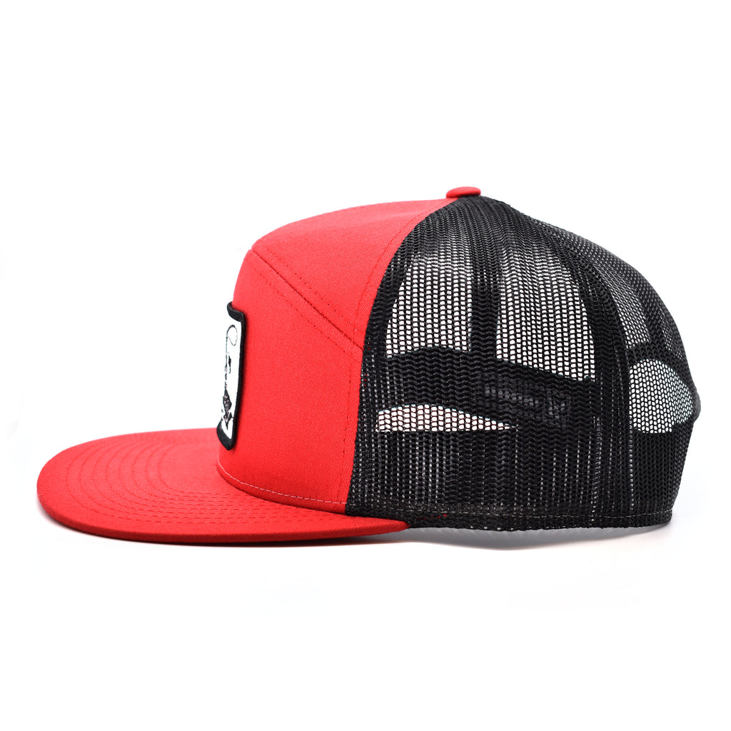 Fish On Patch Red & Black Hat - Bucks of America