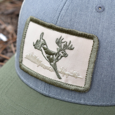 Image of Deer Hunt Patch Heather Grey / Birch / Army Hat