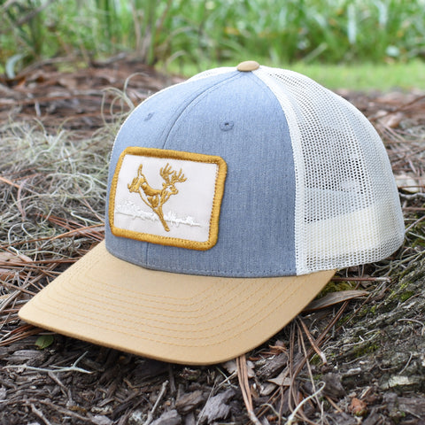 Deer Hunt Patch Heather Grey / Birch / Gold Hat - Bucks of America