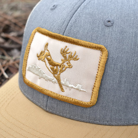Image of Deer Hunt Patch Heather Grey / Birch / Gold Hat