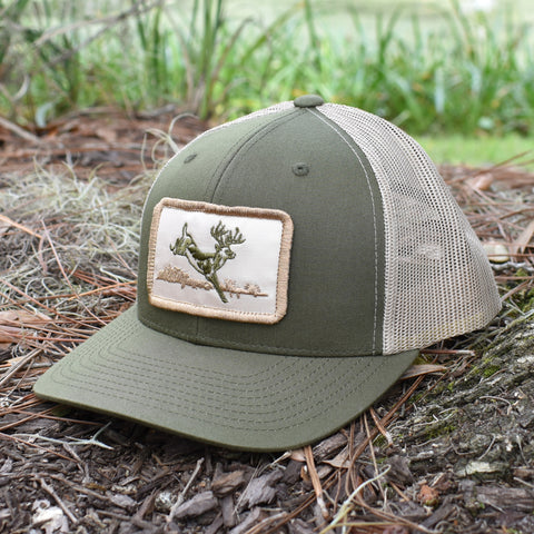 Deer Hunt Patch Moss & Khaki Hat - Bucks of America