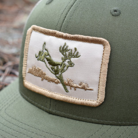 Image of Deer Hunt Patch Moss & Khaki Hat