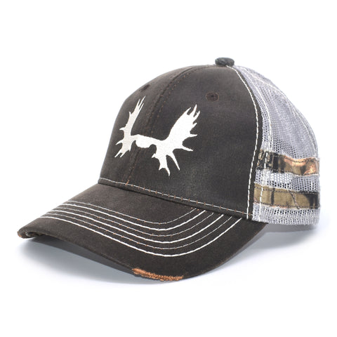 Image of Brown Camo Sport Frayed Hat
