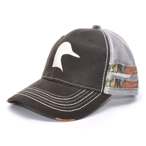 Brown Camo Sport Frayed Hat - Bucks of America