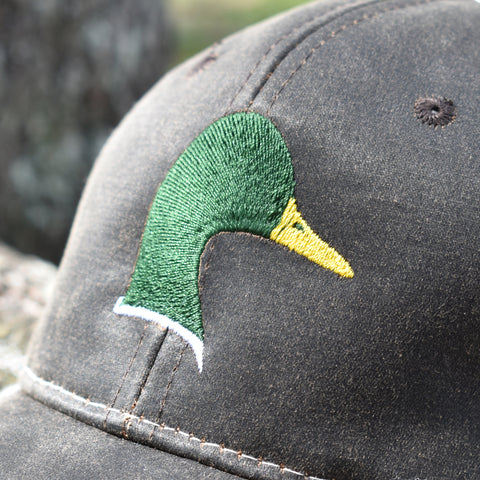 Image of Brown Camo Duck Sport Frayed Hat - Bucks of America