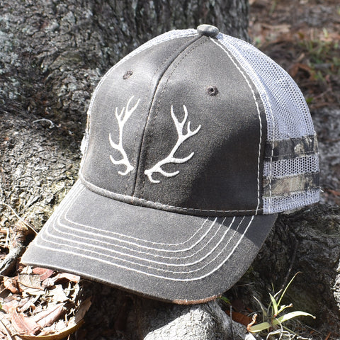 Image of Brown Camo Caribou Sport Frayed Hat - Bucks of America