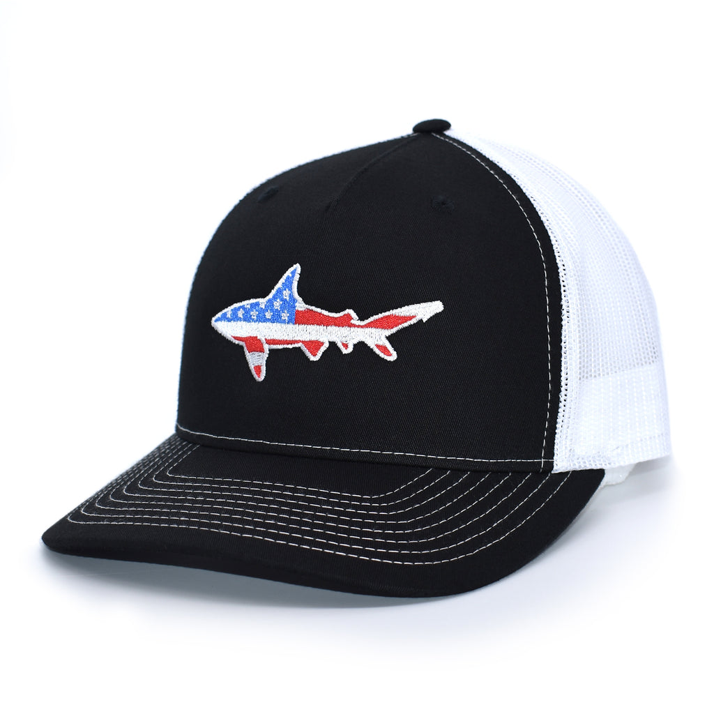 American Flag Shark Hat - Bucks of America