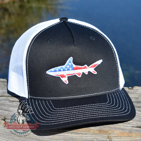 Image of American Flag Shark Hat - Bucks of America