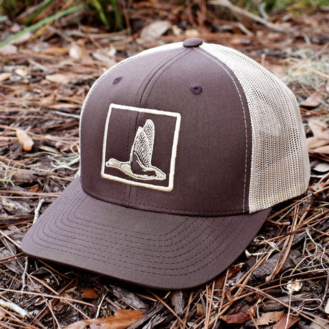 Image of Duck Embroidered Brown & Khaki Hat - Bucks of America