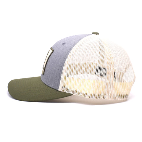 Image of Duck Patch Heather Grey / Birch / Army Hat - Bucks of America