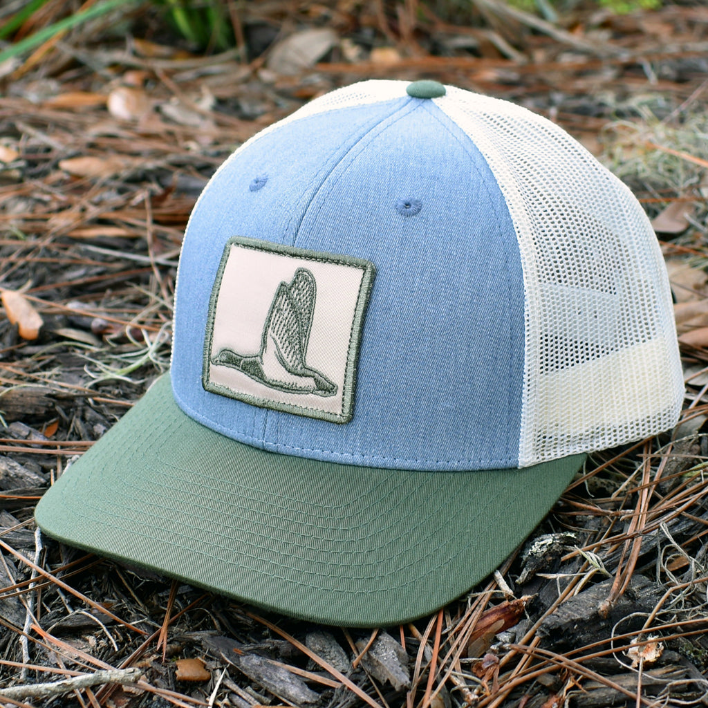 Duck Patch Heather Grey / Birch / Army Hat - Bucks of America