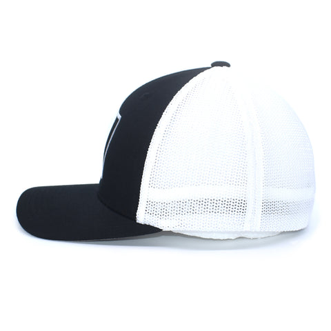 Image of Duck Embroidered Black & White Hat - Bucks of America