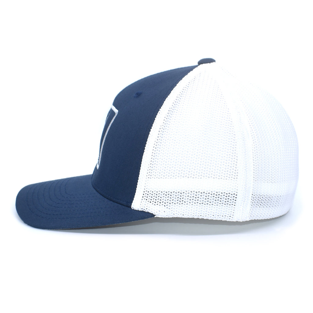 Duck Embroidered Navy & White Hat