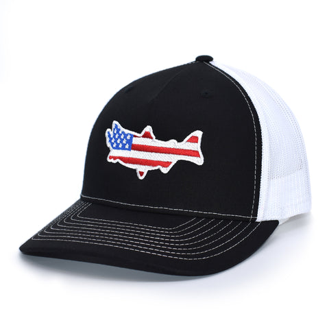 Image of American Flag Salmon Hat - Bucks of America