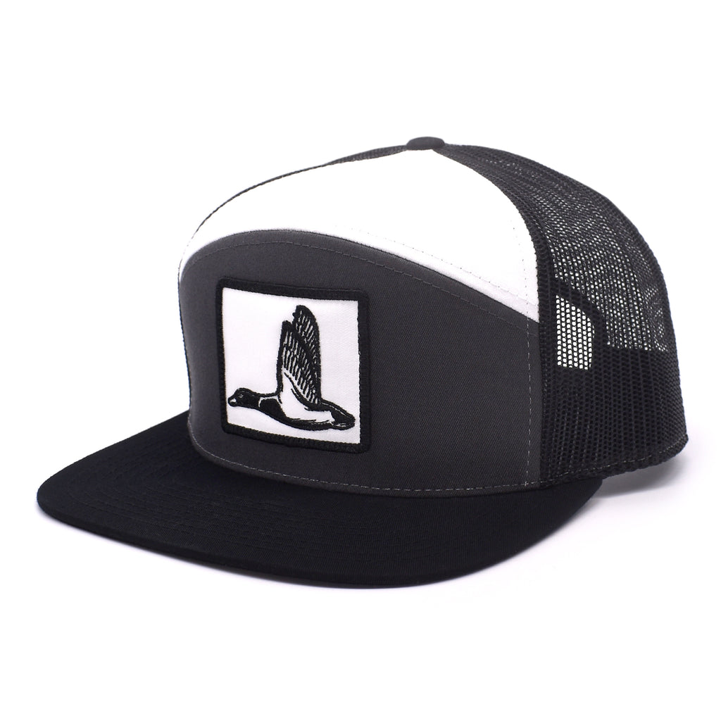 Duck Patch Charcoal, Black & White  Hat - Bucks of America