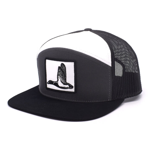 Image of Duck Patch Charcoal, Black & White  Hat - Bucks of America