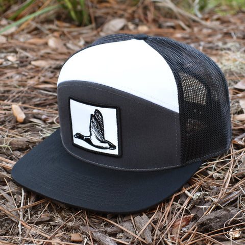 Image of Duck Patch Charcoal, Black & White  Hat