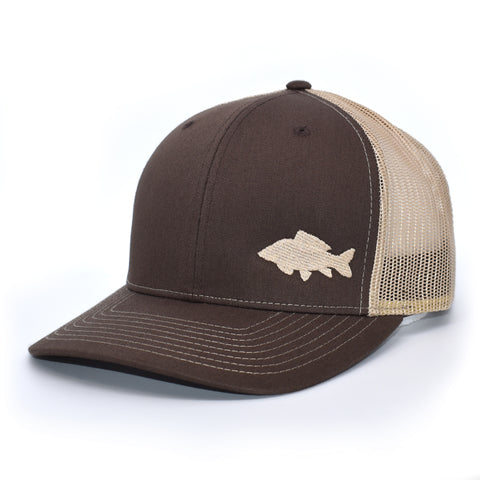 Carp Fishing Brown Retro Trucker Hat - Bucks of America