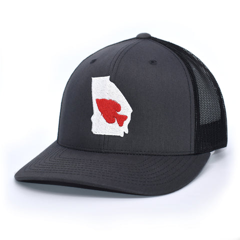 Georgia Crappie Fishing Hat - Charcoal / Black - Bucks of America