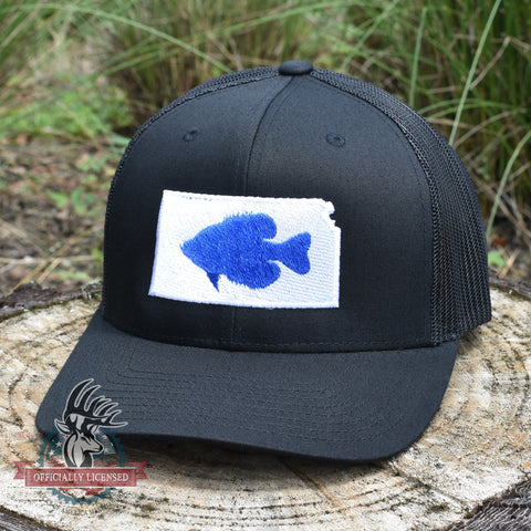 Image of Kansas Crappie Hat- Blue/Black