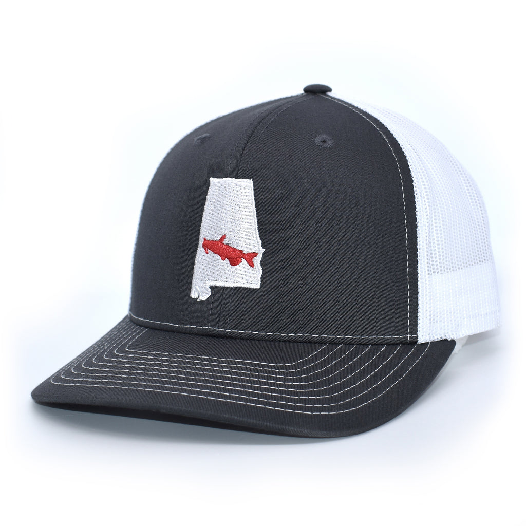 Alabama Catfish Hat- Charcoal/White - Bucks of America