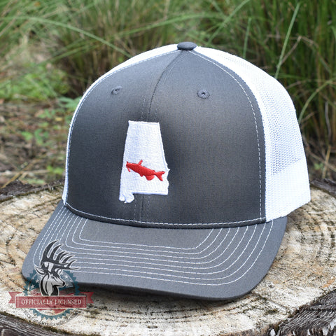 Image of Alabama Catfish Hat- Charcoal/White