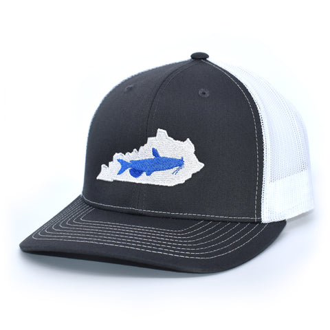 Kentucky Catfish Blue on Charcoal/White - Bucks of America