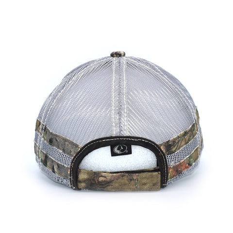 Image of Brown Camo Whitetail Sport Frayed Hat