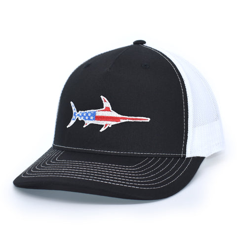 Image of American Flag Marlin Hat - Bucks of America