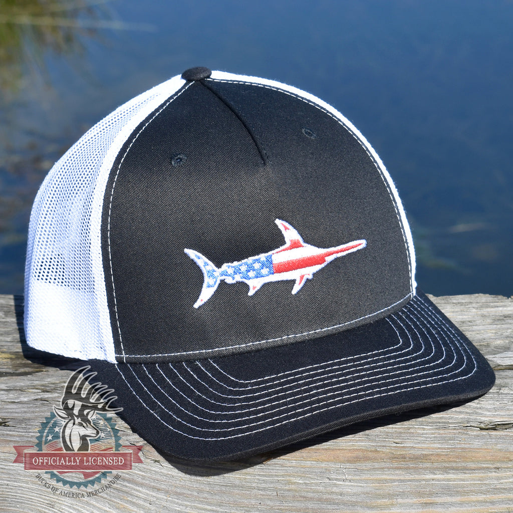 American Flag Marlin Hat - Bucks of America