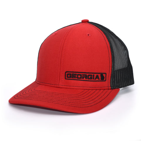 Georgia State Hat - Red / Black - Bucks of America