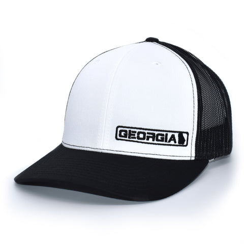 Georgia State Hat - Black / White