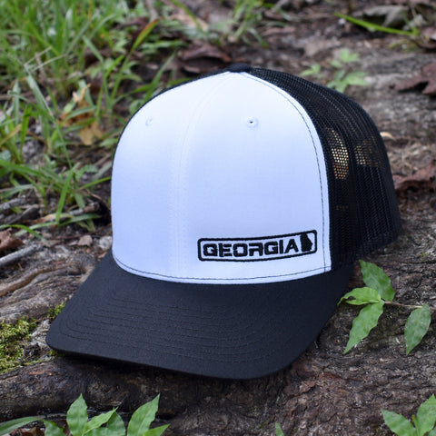 Georgia State Hat - Black / White - Bucks of America
