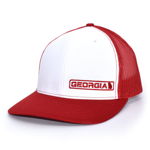 Georgia State Hat - White / Red - Bucks of America