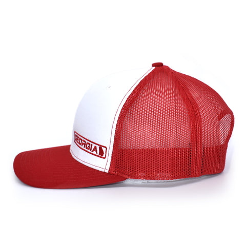 Image of Georgia State Hat - White / Red